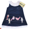 Spotted! Sweetest little navy cord pinafore with birdies.