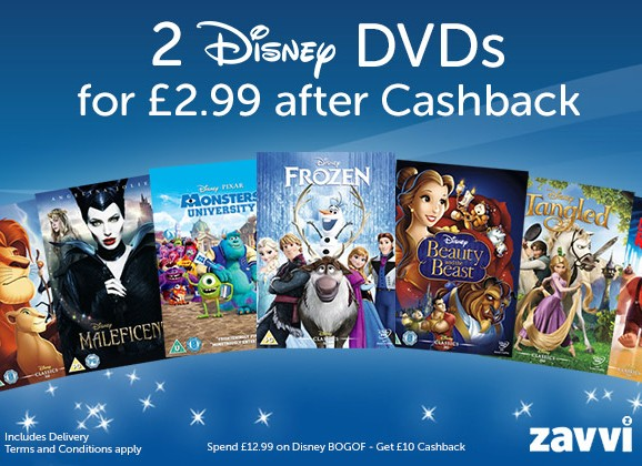 Two Disney DVDs for £2.99 from Zavvi – expires SUNDAY!