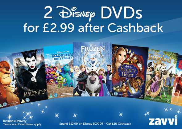 Two Disney DVDs for £2 99 from Zavvi - expires SUNDAY