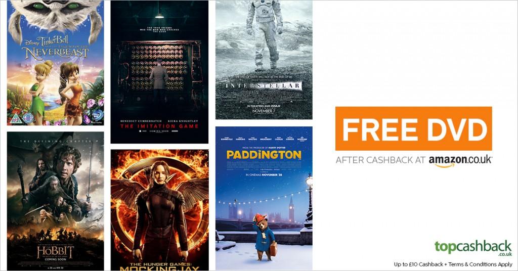 free dvd through topcashback