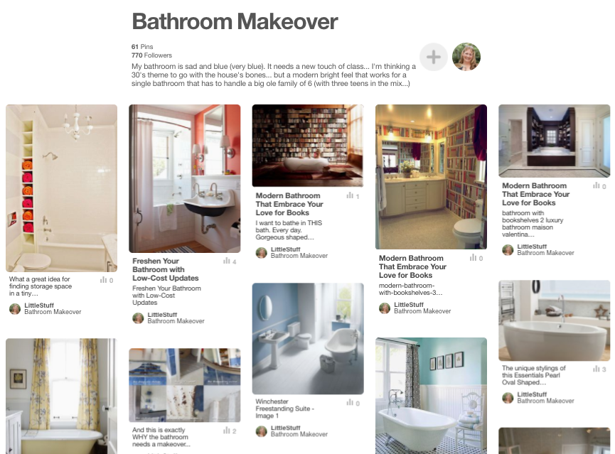 planning bathroom makeover pinterest