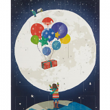 Traditional Man on the Moon Paper Advent calendar