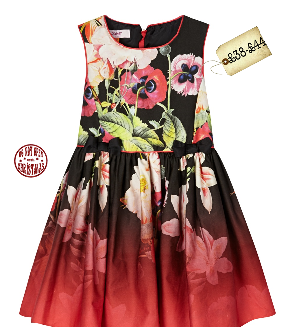77ac83794 Baker by Ted Baker Girls  black floral dress  ChristmasGiftGuide ...