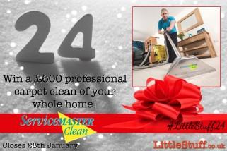 Closing Soon! Win a £600 professional carpet clean of your whole home from ServiceMaster! | #LittleStuff24