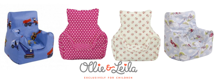 ollie-leila-bean-bag-chair  sc 1 st  LittleStuff & Win a beautiful Childu0027s Bean Chair from Ollie u0026 Leila ...