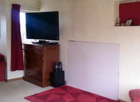 Replacing a gas fire with a woodburner on a plasterboard wall | DIY