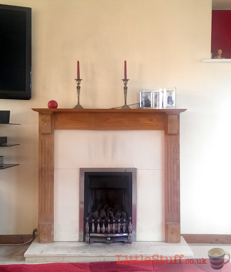 replace gas fire with woodburner