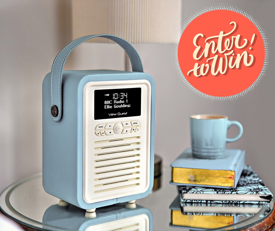 24hrs left to win 1 of 3 glorious vq retro mini dab radio. Black Bedroom Furniture Sets. Home Design Ideas