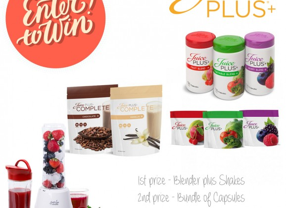 24hrs left to win 1 of 3 fab health bundles from Juice Plus+
