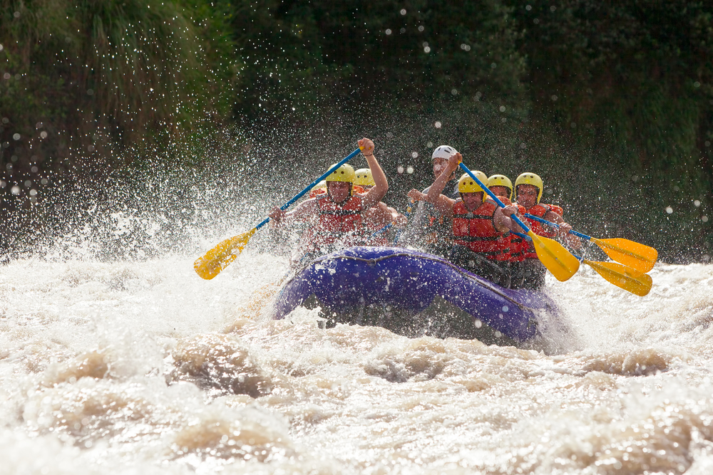 White Water Rafting image courtesy of Shutterstock