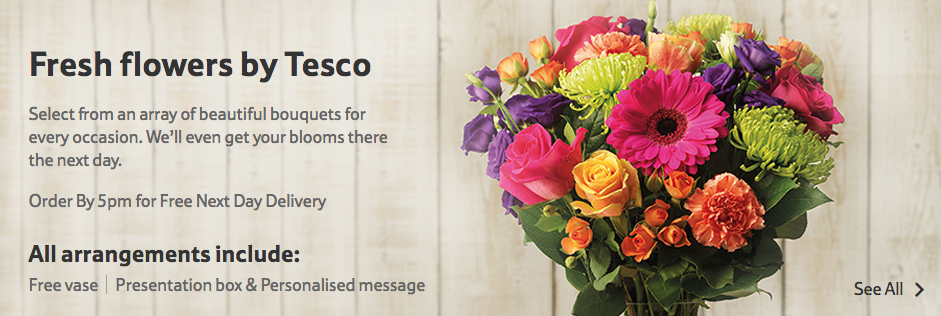 tesco direct flowers