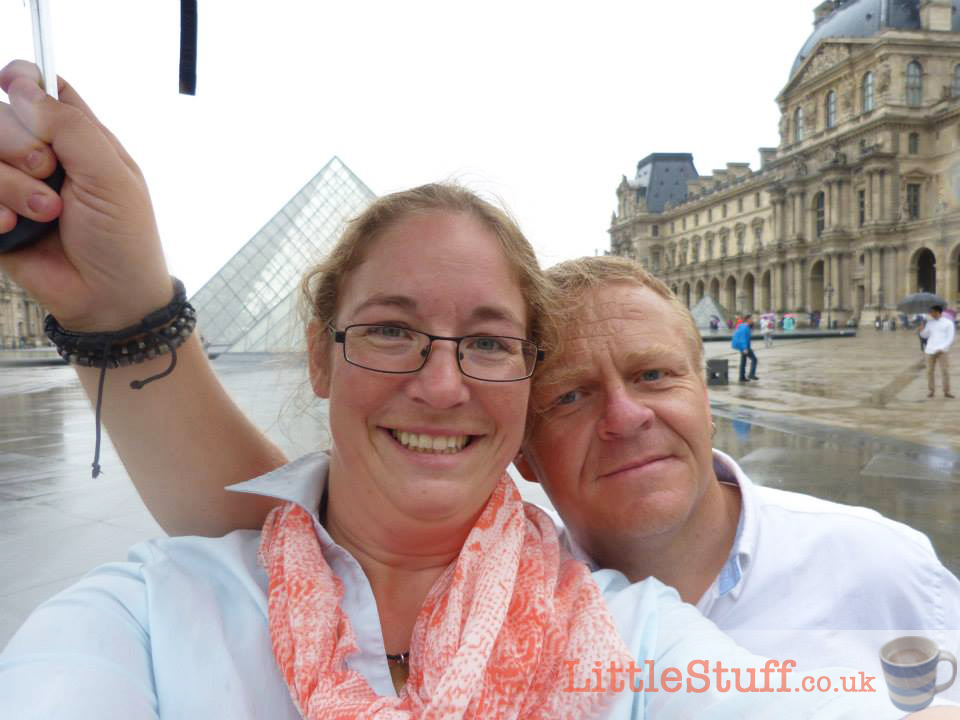 selfie at the Louvre in the rain #parisweloveyou