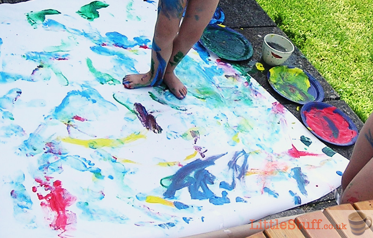 messy-play-outside-painting
