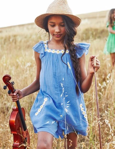blue cotton playsuit