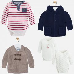 Oh the cutest newborn clothes – onesies and cardigans aplenty.
