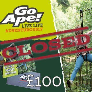 Win £100 Go Ape! Gift Voucher