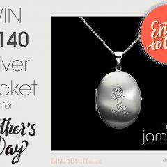Win a beautifully personal £140 Silver Locket for Mother's Day