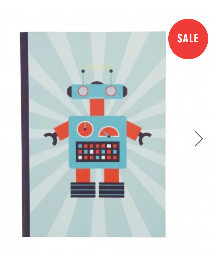 vintage robots exercise a5 notebook