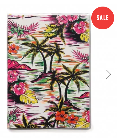 kitsch tropical hawaiian notebook