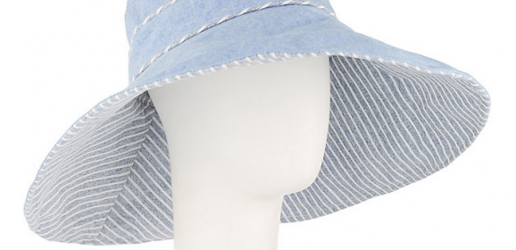 SALE! Reversible Striped Wide Brim Sun Hat from John Lewis