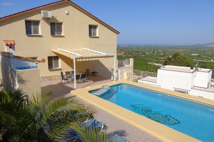 large family villa in Pego, Spain with private pool
