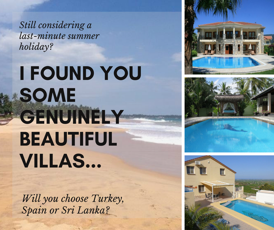 Last-Minute Villa suggestions for summer 2017 - beautiful places to stay from Spain to Sri lanka