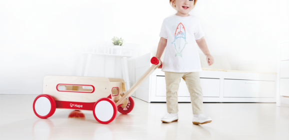 Spotted! Gorgeous Wooden Wonder Wagon Walker from Hape