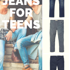 Jeans for your man-sized boy teenager.