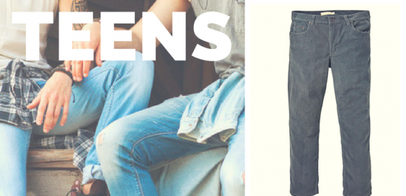 Clothes for your man-sized boy teenager.