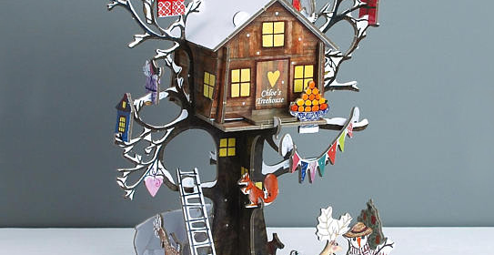 Personalised Festive Treehouse 3D Advent Calendar from PenelopeTom on Etsy