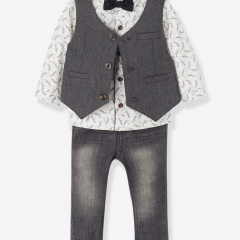 Boys Waistcoat, Shirt, Trousers & Bow-Tie Outfit Set #ChristmasGiftGuide