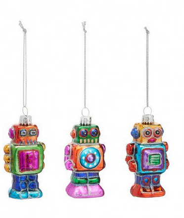 robot tree decorations