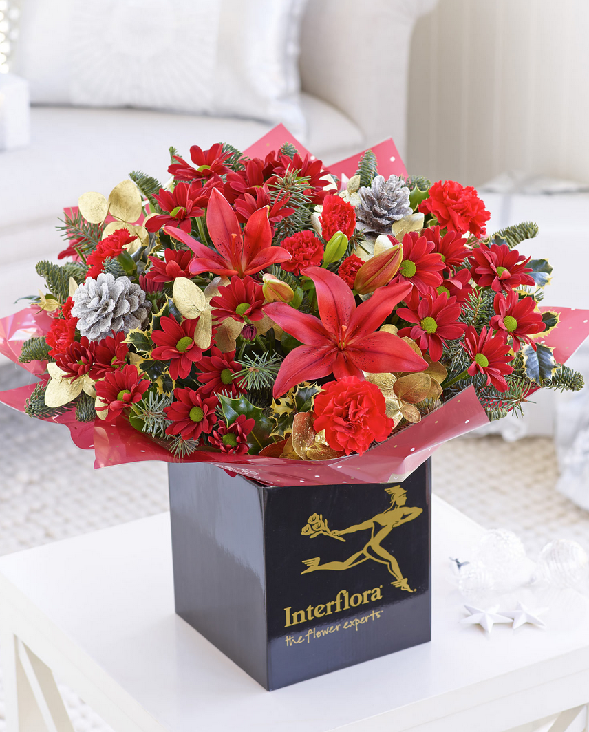 christmas cracker hand tied flowers