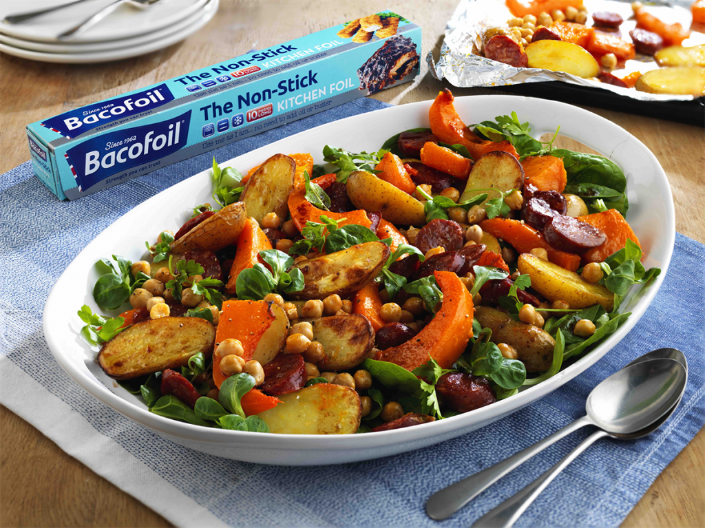 Warm salad of Roasted Butternut Squash, Chorizo and ...