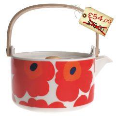 Spotted! Glorious Marimekko Unikko Red Teapot 25% off!