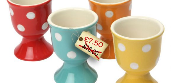 Spotted! No, Really – Retro Spotted Egg Cups!