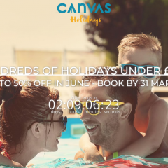 Canvas Holidays Discount 50% Off – FABULOUS bargain, but be quick!