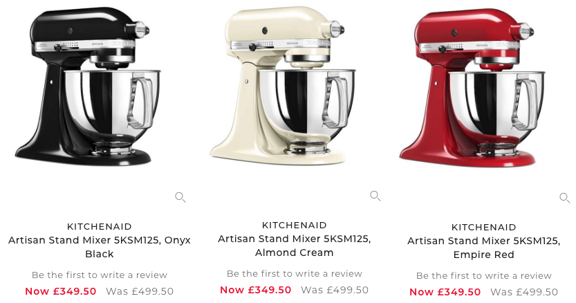 kitchenaid stand mixer on sale