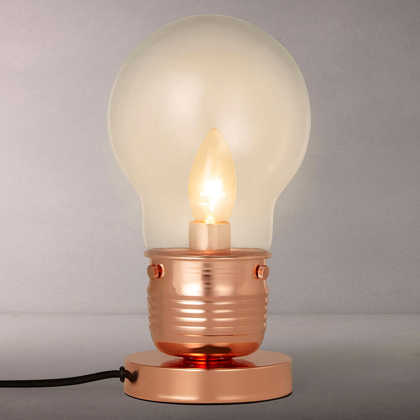 lightbulb industrial Lamps for a Teenager's Bedroom