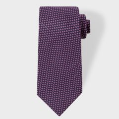 Men's Navy Micro-Floral Silk Tie by Paul Smith |Father's Day Gift Ideas