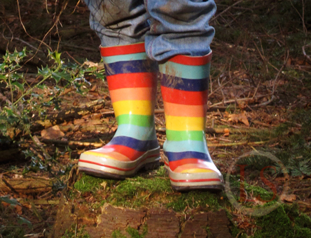 Just The Best Wellies For Children Rainbow Striped