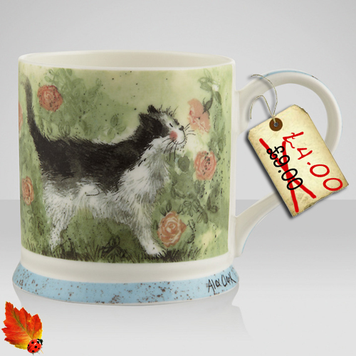 Spotted! Beautiful Alex Clark Cat & Dog mugs – only £4!