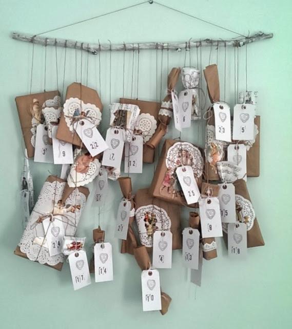 Diy Calendar Uk : Make your own beautiful advent calendar no sew