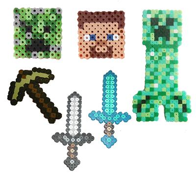 Hama Beads Brilliant Minecraft Inspired Geek Craft