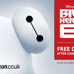 FREE Big Hero 6 DVD with TopCashback