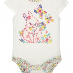 Newborn Bunny Bodysuit & Bunny Bib from Monsoon #EasterGiftGuide