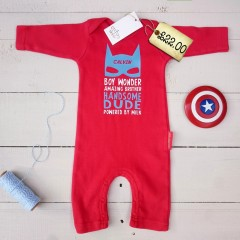 Superhero Romper from Jack Spratt Baby. *LOVE*