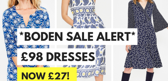 BARGAIN – £90 Boden dresses reduced to £27!