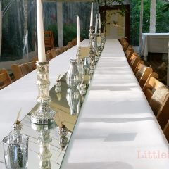 Silver Wedding Party – Dressing the Tables