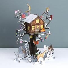 Personalised Festive Treehouse 3D Advent Calendar from PenelopeTom on Etsy